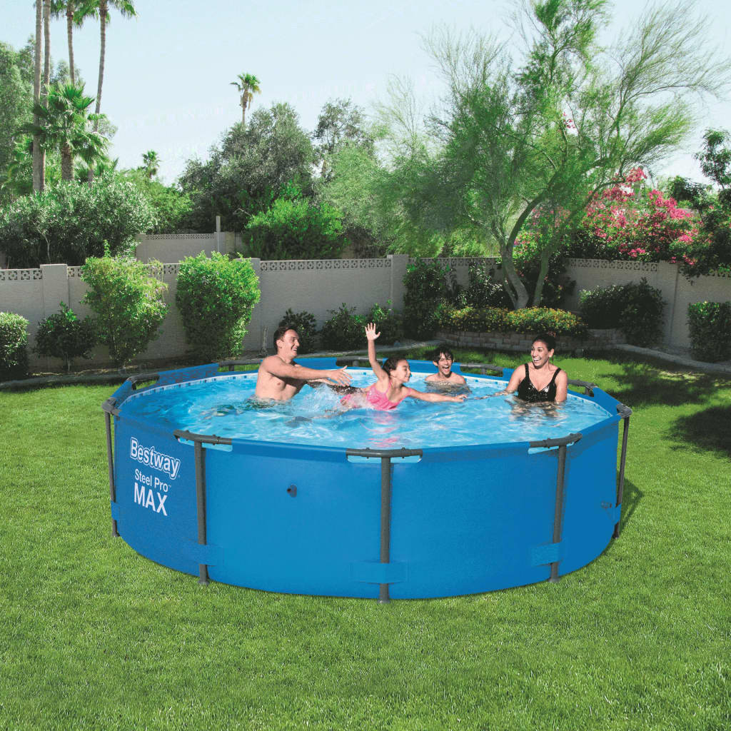bestway steel pro round swimming pool 305 x 76 cm steel frame 56406. Black Bedroom Furniture Sets. Home Design Ideas