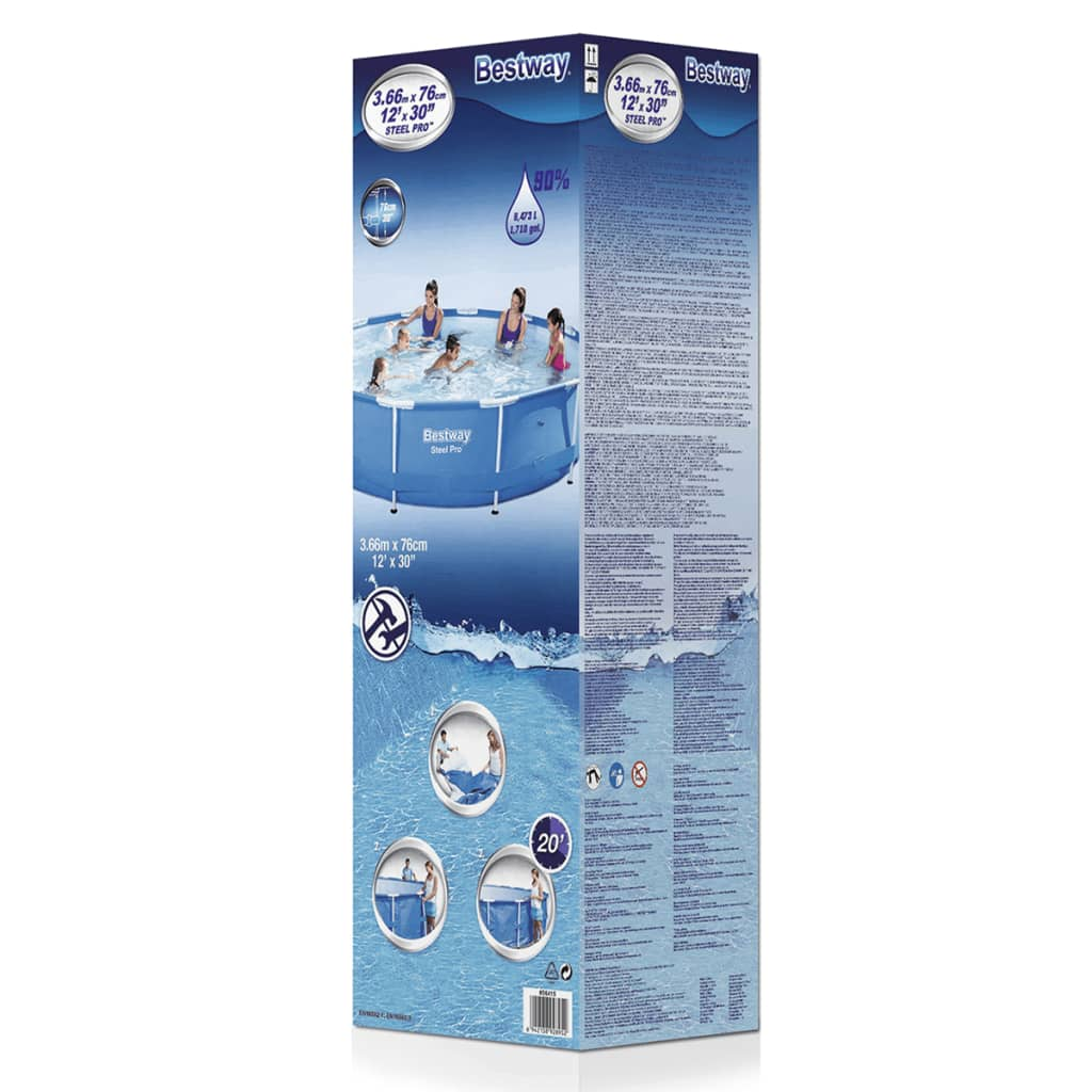 Acheter piscine gonflable ronde bestway steel pro avec for Bestway piscine
