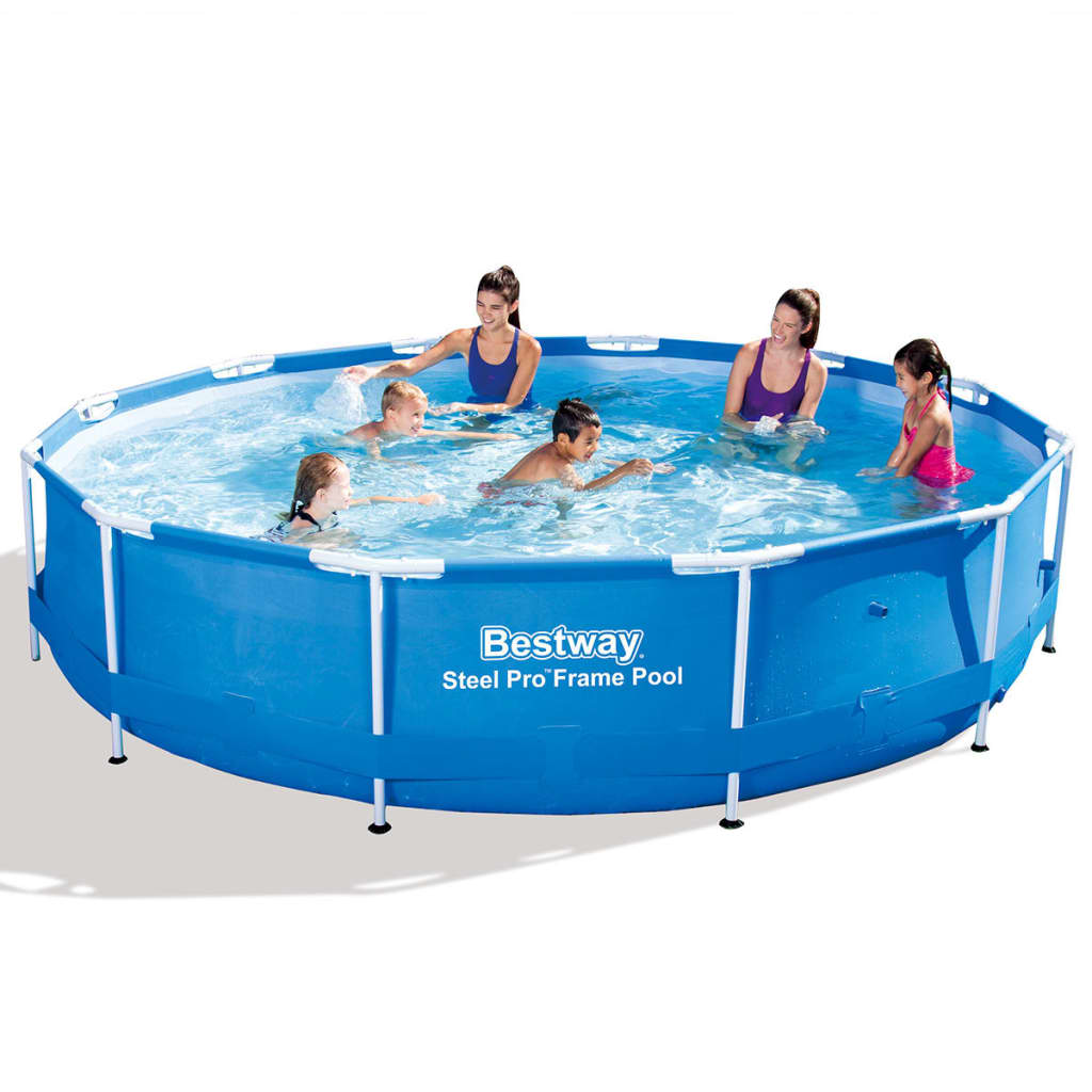 Bestway steel pro runde sv mmebassin 366 x 76 cm st lramme for Amazon piscina