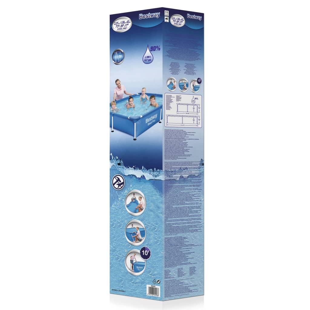 Acheter piscine gonflable rectangulaire bestway steel pro for Piscine acier rectangulaire