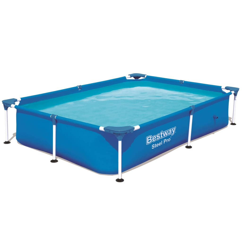 Bestway steel pro rectangular swimming pool for Intex pool 150 cm tief