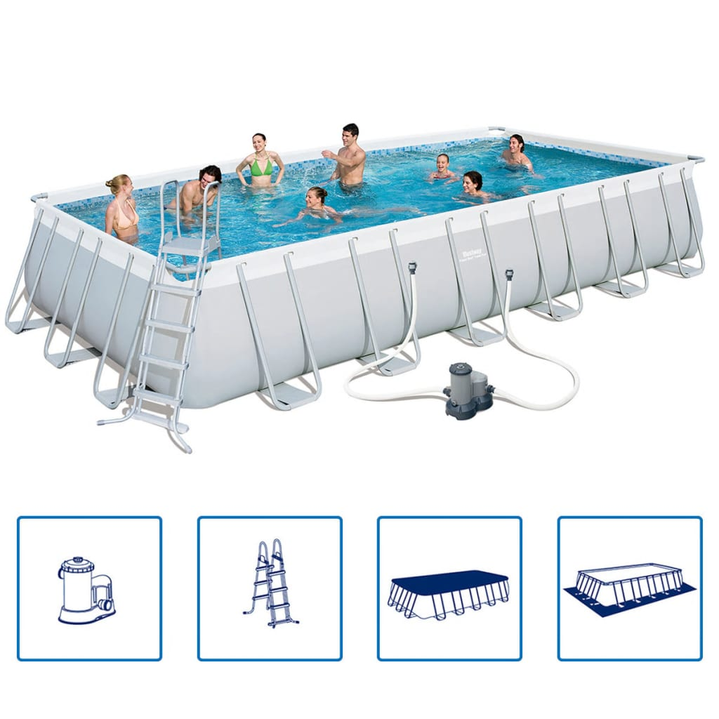 La boutique en ligne piscine rectangulaire bestway for Structure piscine