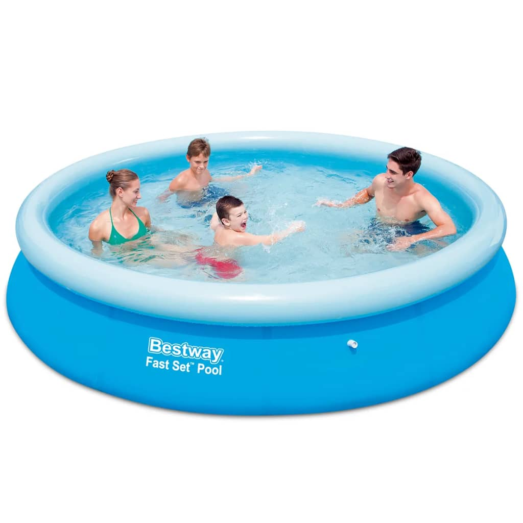 Bestway fast set round inflatable swimming for Bestway piscine service com