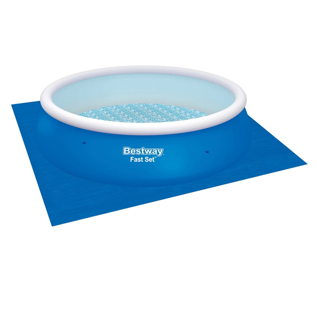 Bestway fast set round inflatable swimming pool set for Swimmingpool rund