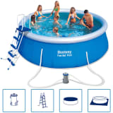 Bestway Fast Set Rund Uppblåsbar Pool Set 457 x 122 cm 57289