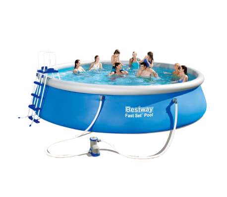 Handla bestway fast set rund uppbl sbar pool set 549 x 122 for Pool set rund