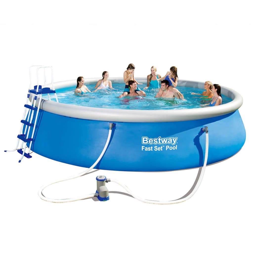 Bestway fast set piscine autoportante ronde piscine for Piscine hors sol gonflable