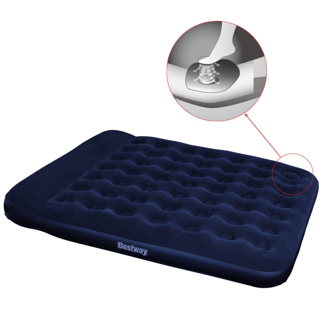 acheter matelas gonflable floqu bestway avec pompe pied. Black Bedroom Furniture Sets. Home Design Ideas