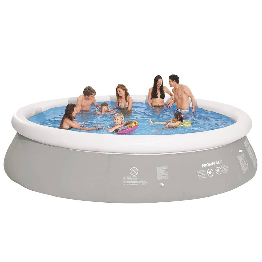 Acheter piscine autoportante grise ronde 450 x 122 cm pas for Piscine amazone
