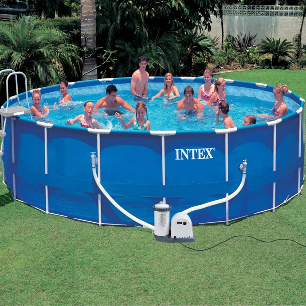 la boutique en ligne intex kit piscine ronde avec ch ssis. Black Bedroom Furniture Sets. Home Design Ideas