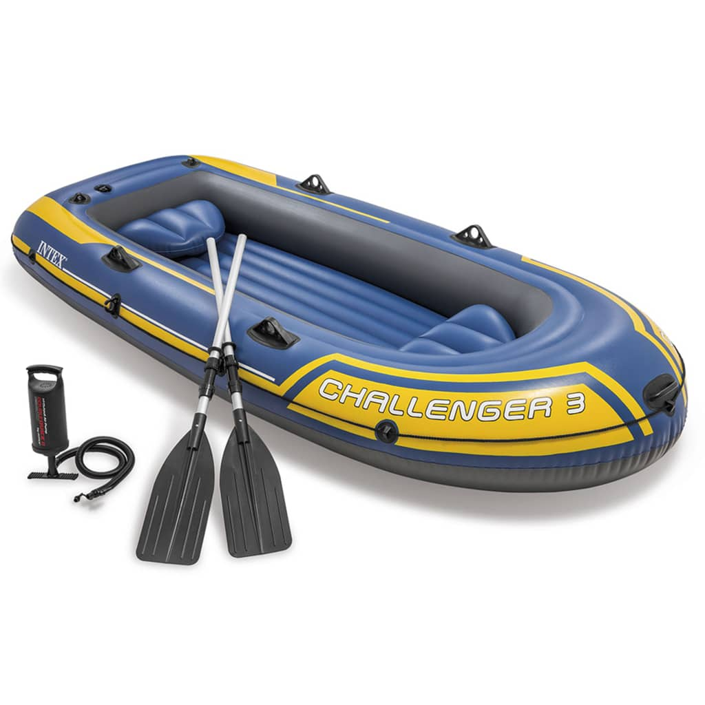 Intex challenger 3 set inflatable boat with oars and pump for Intex webshop