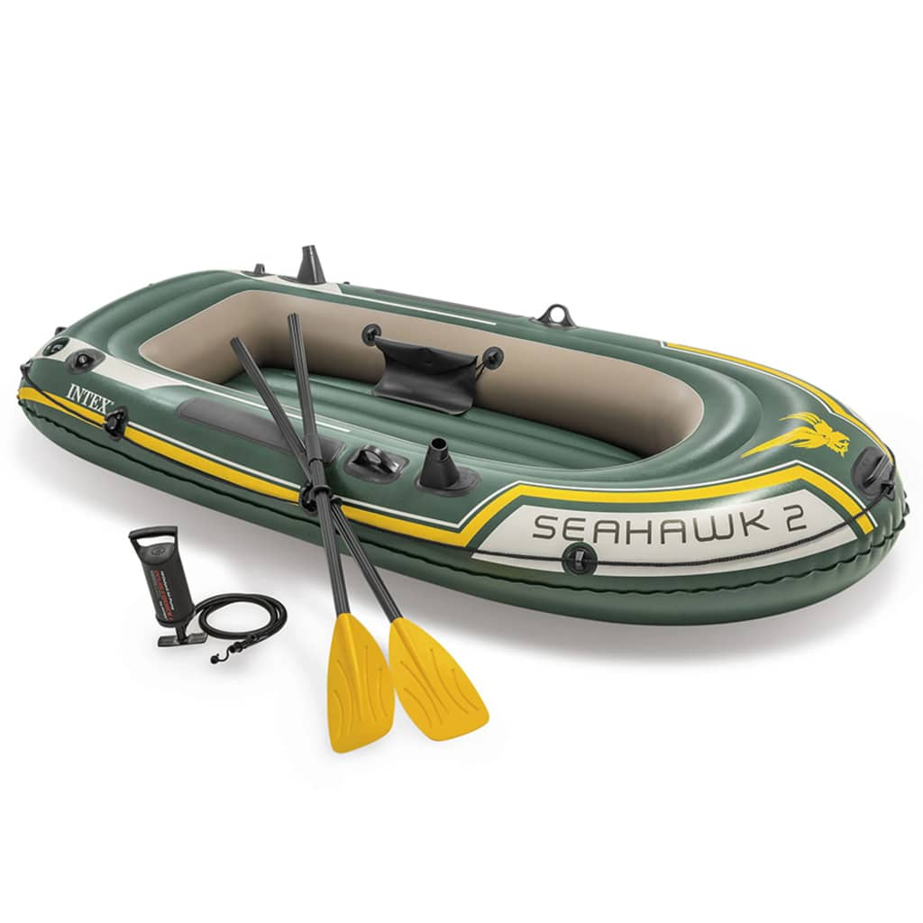 Intex seahawk 2 set inflatable boat with oars and pump for Intex webshop