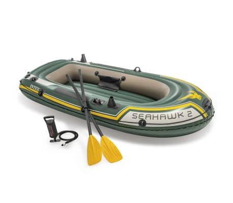 Intex Seahawk 2 Sett Gummibåt med Årer og Pumpe 68347NP