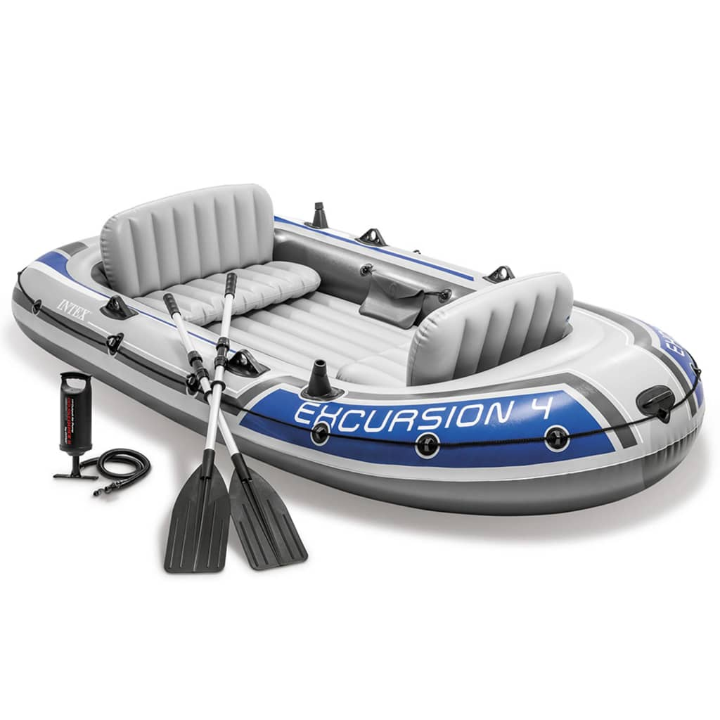 Intex excursion 4 set inflatable boat with oars and pump for Intex webshop