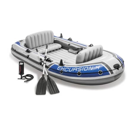 La boutique en ligne set bateau gonflable avec rames pompe excursion 4 inte - Bateau gonflable 4 personnes ...