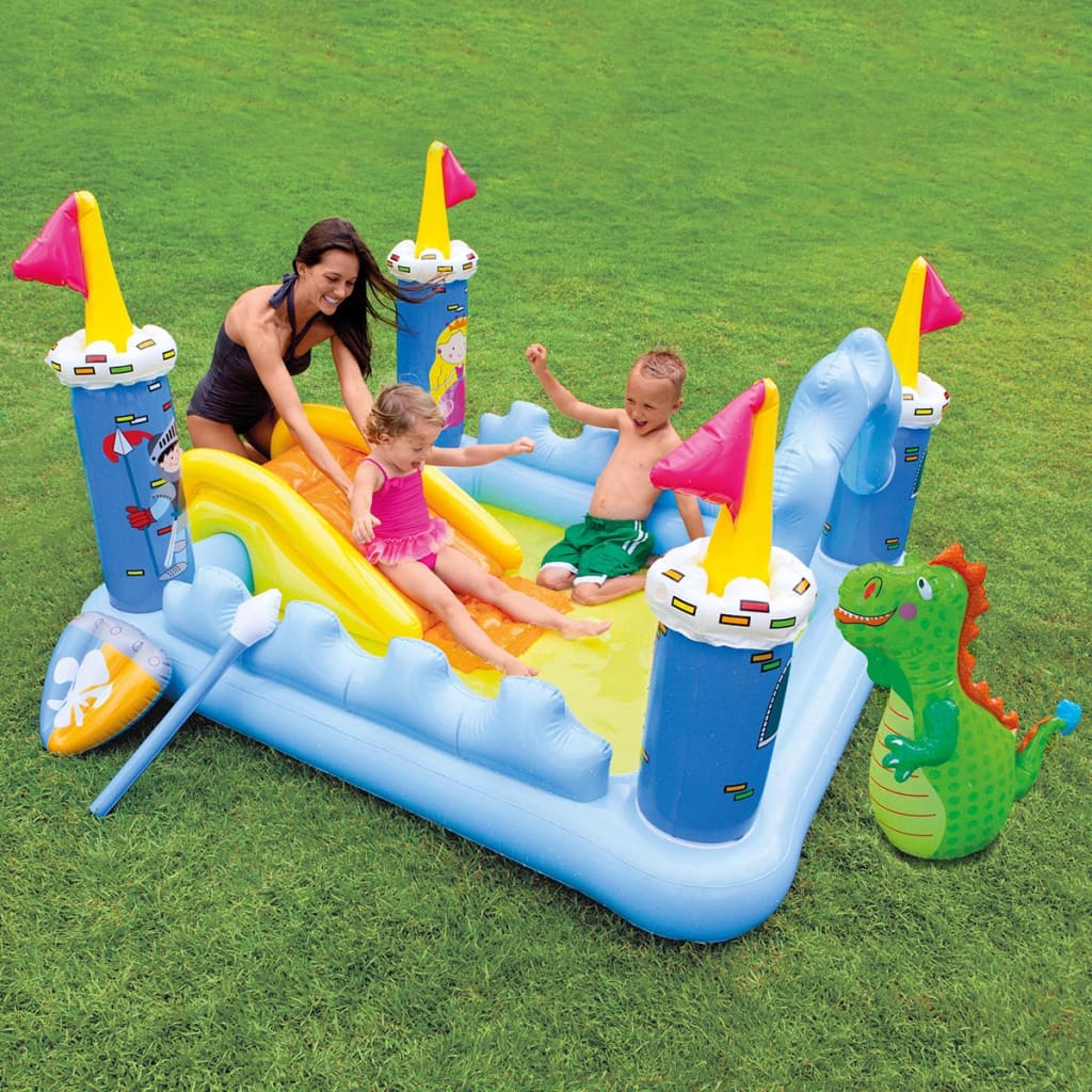 Intex fantasieschloss spielcenter aufblasbarer pool for Garten pool intex