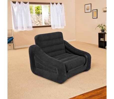 la boutique en ligne fauteuil lit gonflable 1 personne intex 68565np 107 x. Black Bedroom Furniture Sets. Home Design Ideas