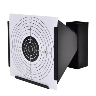 """5.5"""" Funnel Target Holder Pellet Trap + 100 Paper Targets[3/4]"""