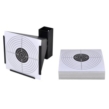 """5.5"""" Funnel Target Holder Pellet Trap + 100 Paper Targets[1/4]"""
