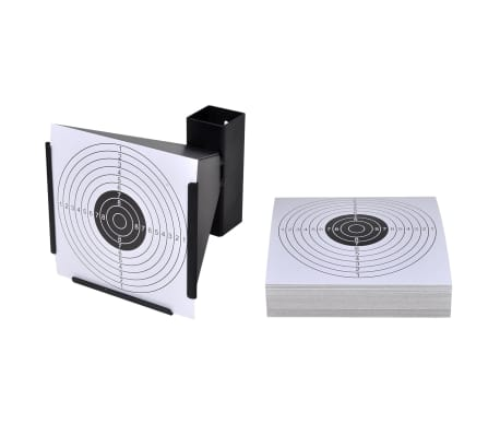 """5.5"""" Funnel Target Holder Pellet Trap + 100 Paper Targets"""