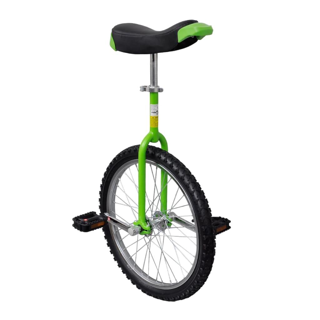 vidaxl-green-adjustable-unicycle-20-inch