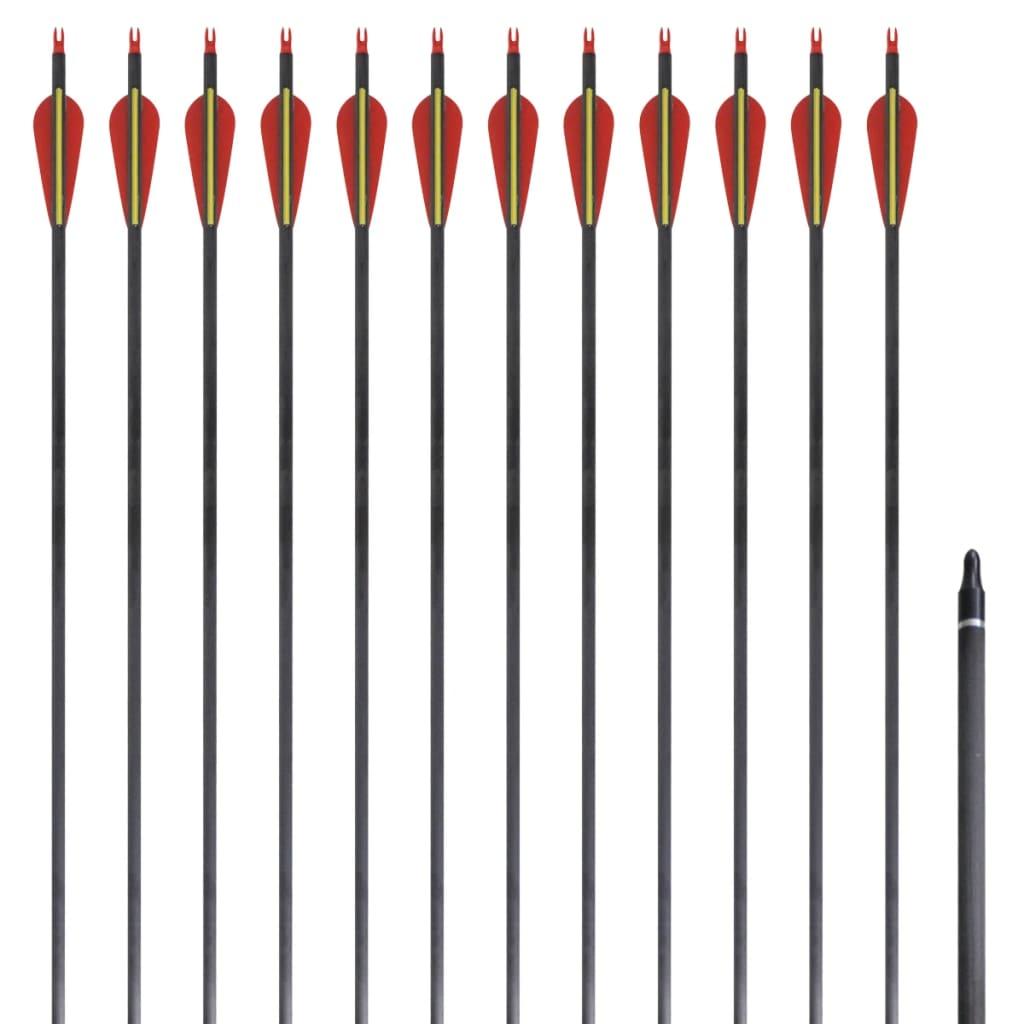 vidaXL 12 db standard reflex íj szénszálas nyílvesszők 30