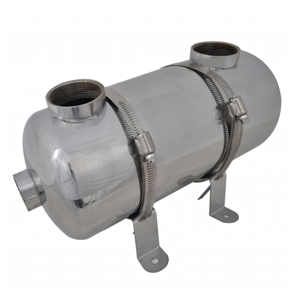 vidaXL Medence hőcserélő 355 x 134 mm 40 kW
