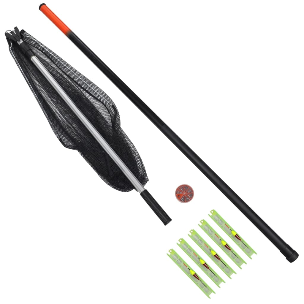 Eight piece fishing set telescopic rod for Fishing rod set