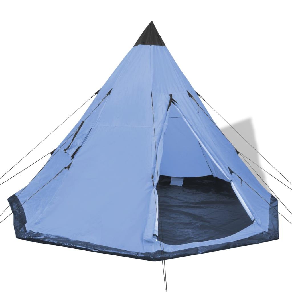 vidaxl 4 personen zelt blau g nstig kaufen. Black Bedroom Furniture Sets. Home Design Ideas