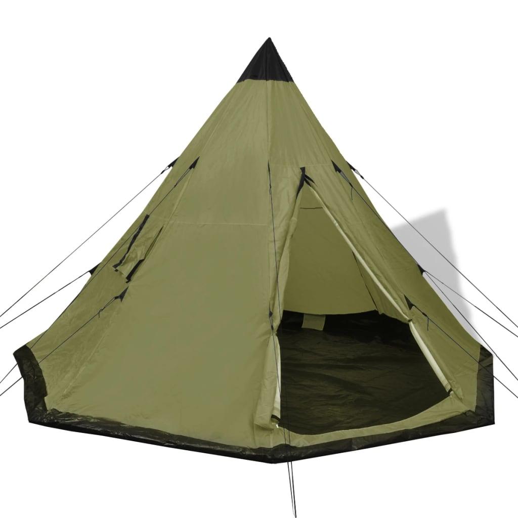 vidaxl 4 person tent green. Black Bedroom Furniture Sets. Home Design Ideas