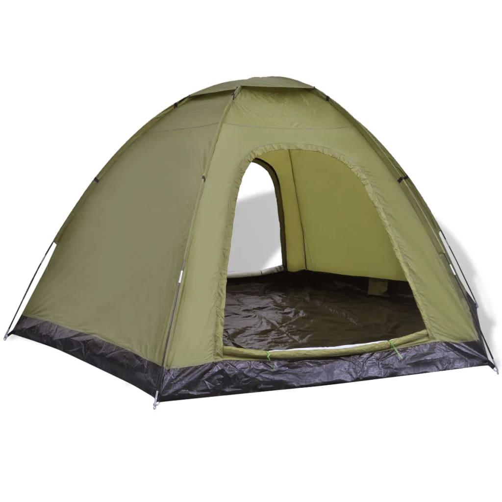acheter vidaxl tente pour 6 personnes vert pas cher. Black Bedroom Furniture Sets. Home Design Ideas