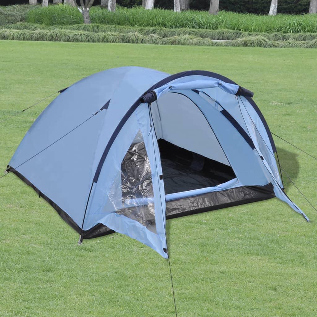 vidaXL 3 személyes kék sátor