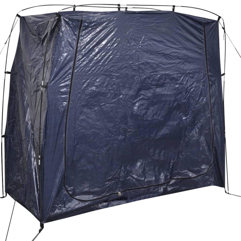 vidaXL 200x80x150 cm kerékpártároló sátor kék