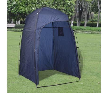 Vidaxl tienda de campa a para ducha wc vestidor azul - Duchas portatiles camping ...