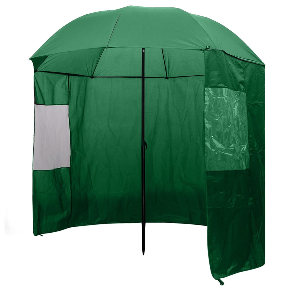 vidaXL horgászesernyő 240x210 cm zöld