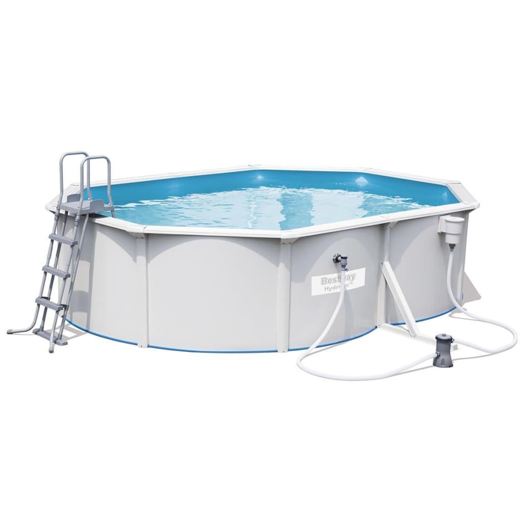 acheter bestway jeu de piscine 56583 avec adre en acier 500x360x120 cm pas cher