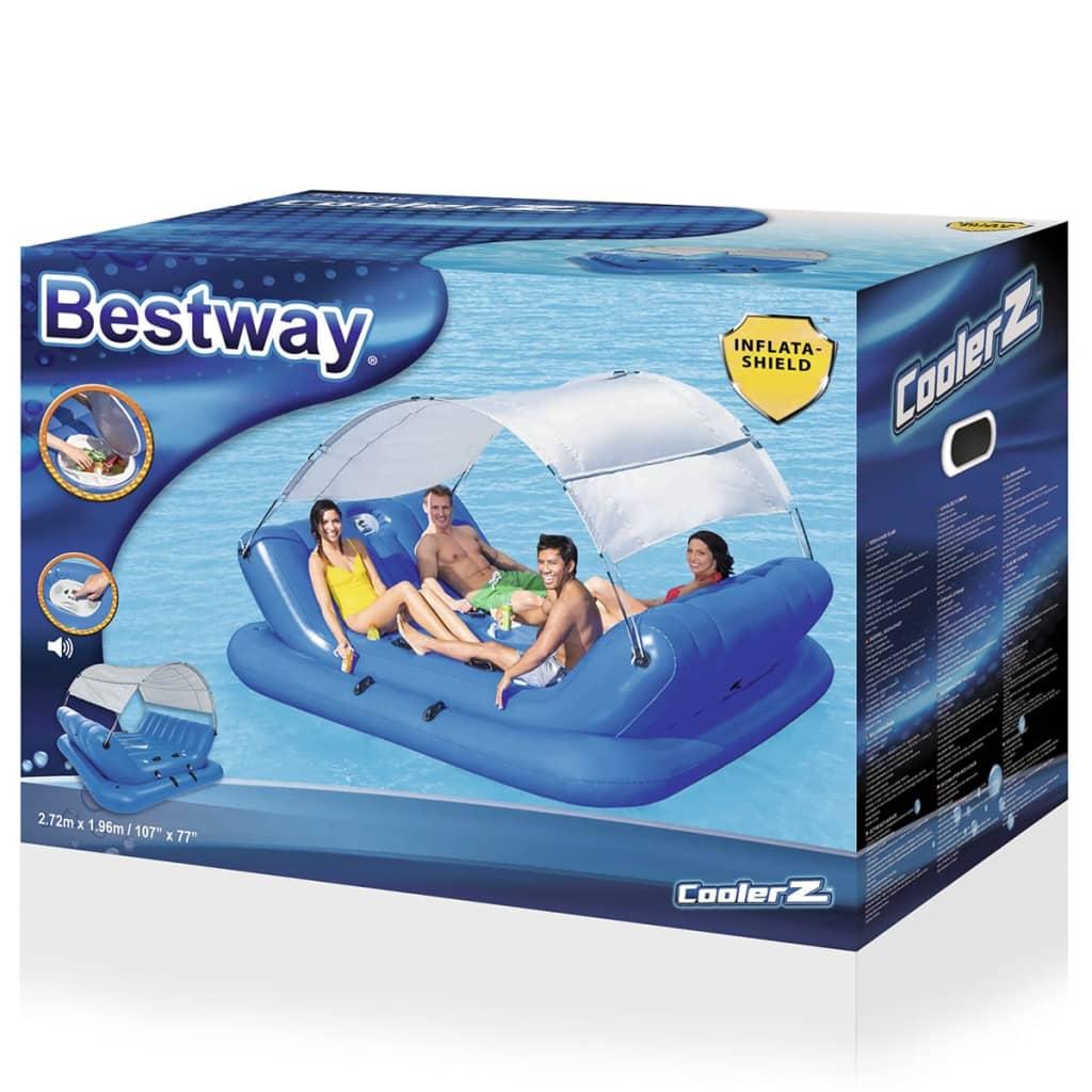 Bestway rock n shade aufblasbare schwimmende insel 272x196 for Aufblasbare pools im angebot