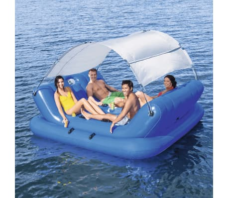 Bestway rock n shade inflatable floating for Bestway piscine service com