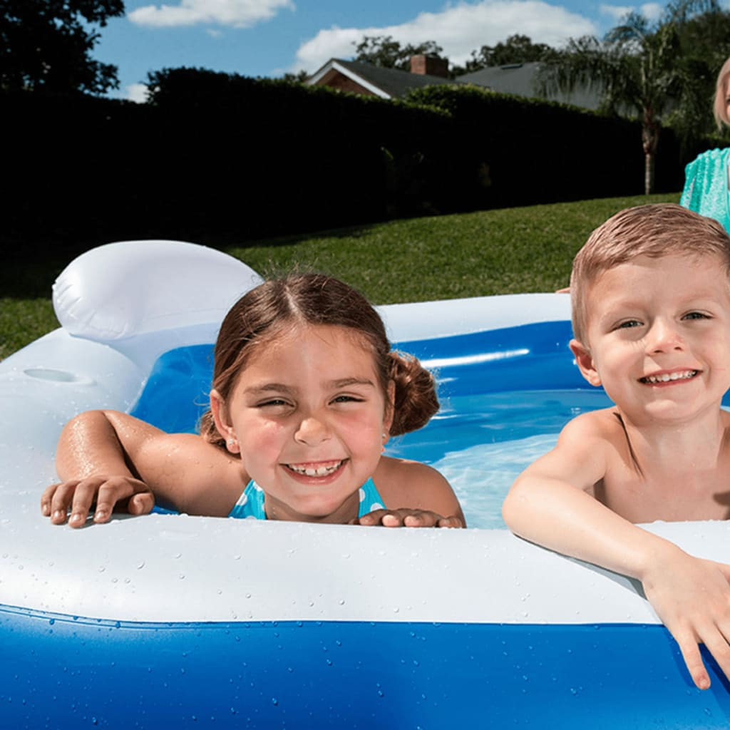 Bestway kids 39 play pool inflatable swimming kid family for Pool aufblasbar eckig