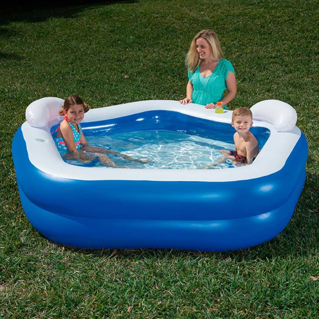 Bestway kids 39 play pool blue 213x207x69cm inflatable for Piscinas intex carrefour