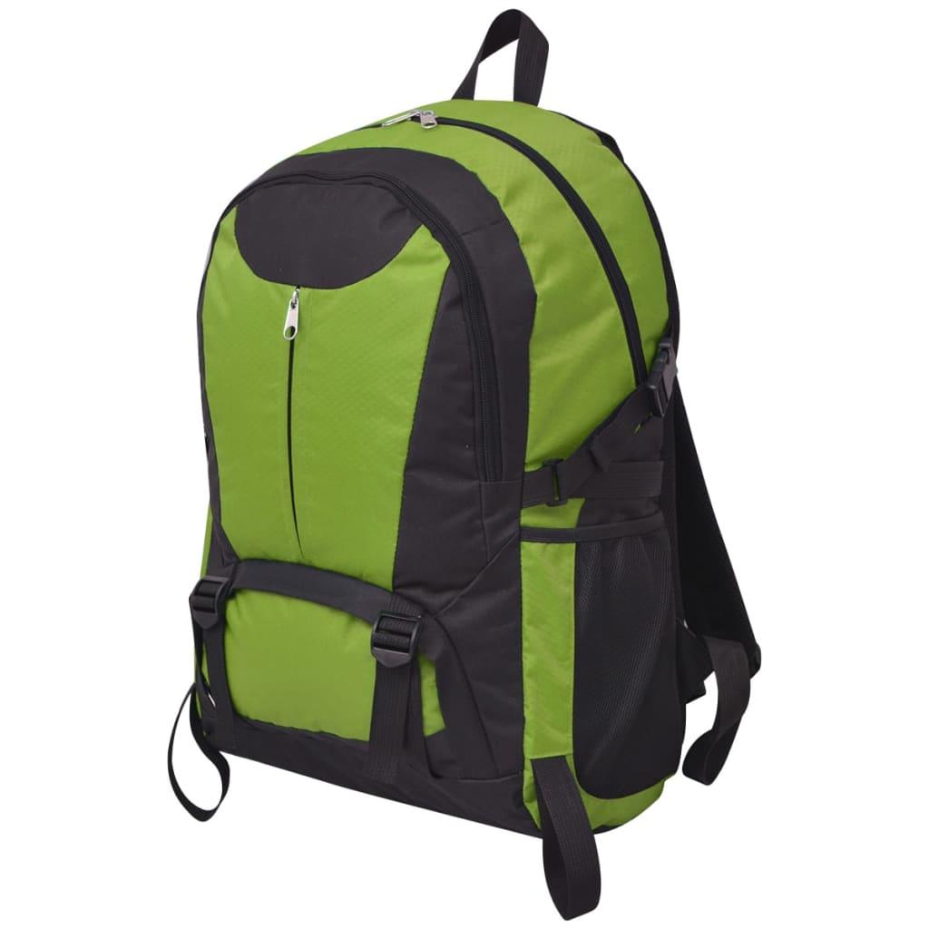 vidaXL Fekete és zöld 40 L túrázó hátizsák