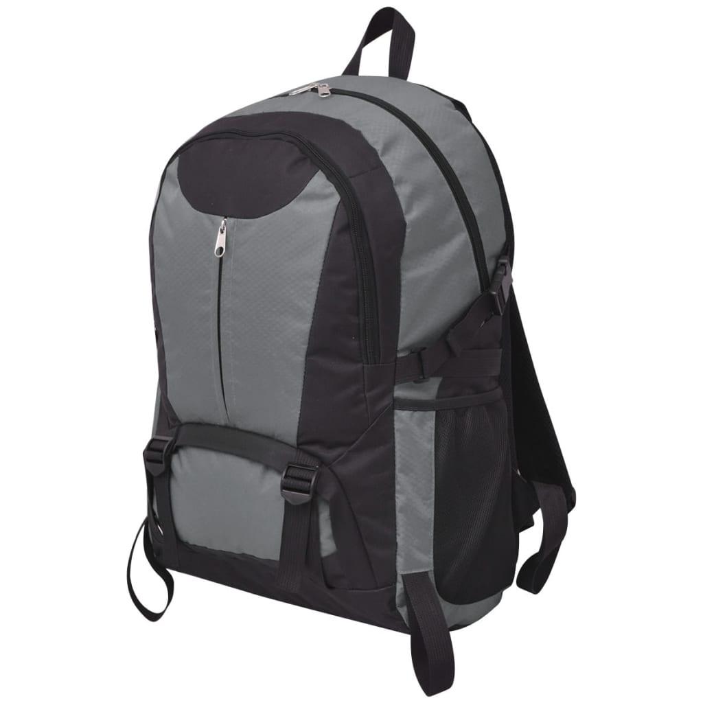 acheter vidaxl sac dos de randonn e 40 l noir et gris pas cher. Black Bedroom Furniture Sets. Home Design Ideas