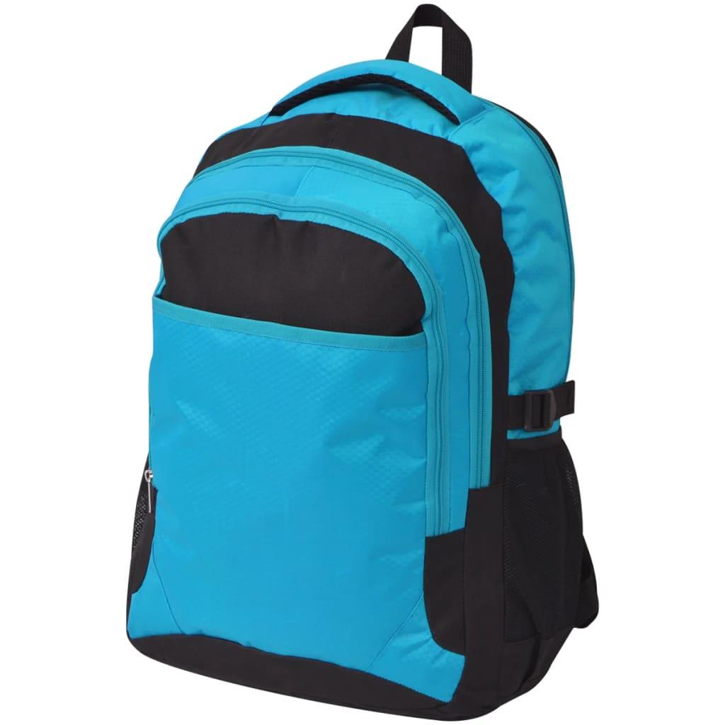 vidaXL 40 literes iskolatáska fekete és kék