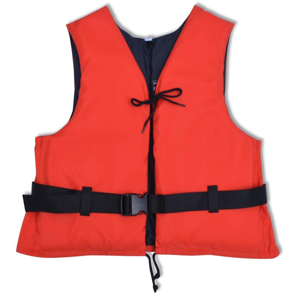 vidaXL 50 N 70-90 kg piros csatos vízi mellény