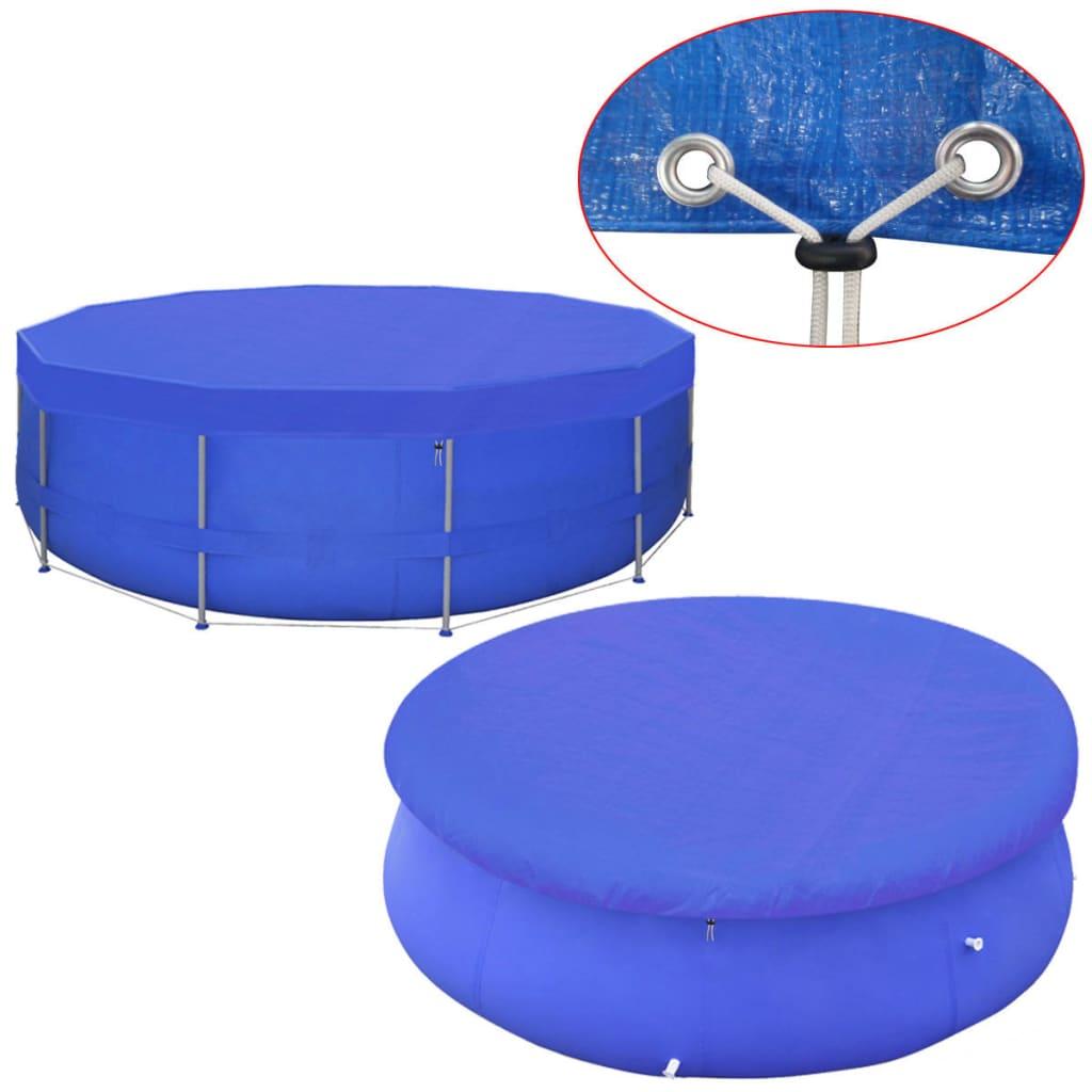 vidaXL 420 cm, 90 g/m˛ kör alakú PE medencetakaró