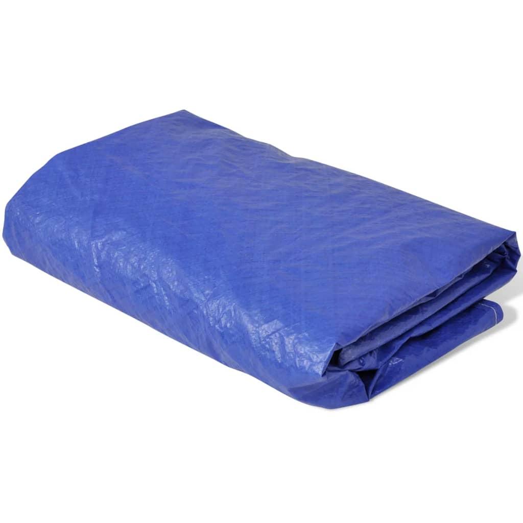 vidaXL 500 cm, 90 g/m˛ kör alakú PE medencetakaró