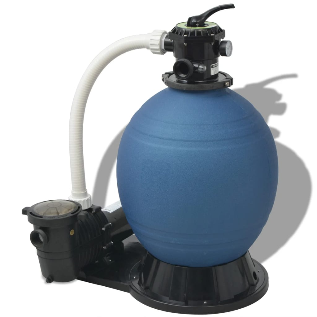 Vidaxl sand filter with pool pump 22 inch 1 5 hp 5280 gph - Sandfilterpumpe fur pool ...