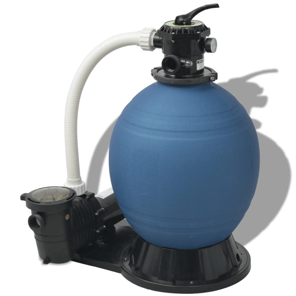 Vidaxl sand filter with pool pump 22 inch 1 5 hp 5280 gph - Pool filter sand wechseln ...