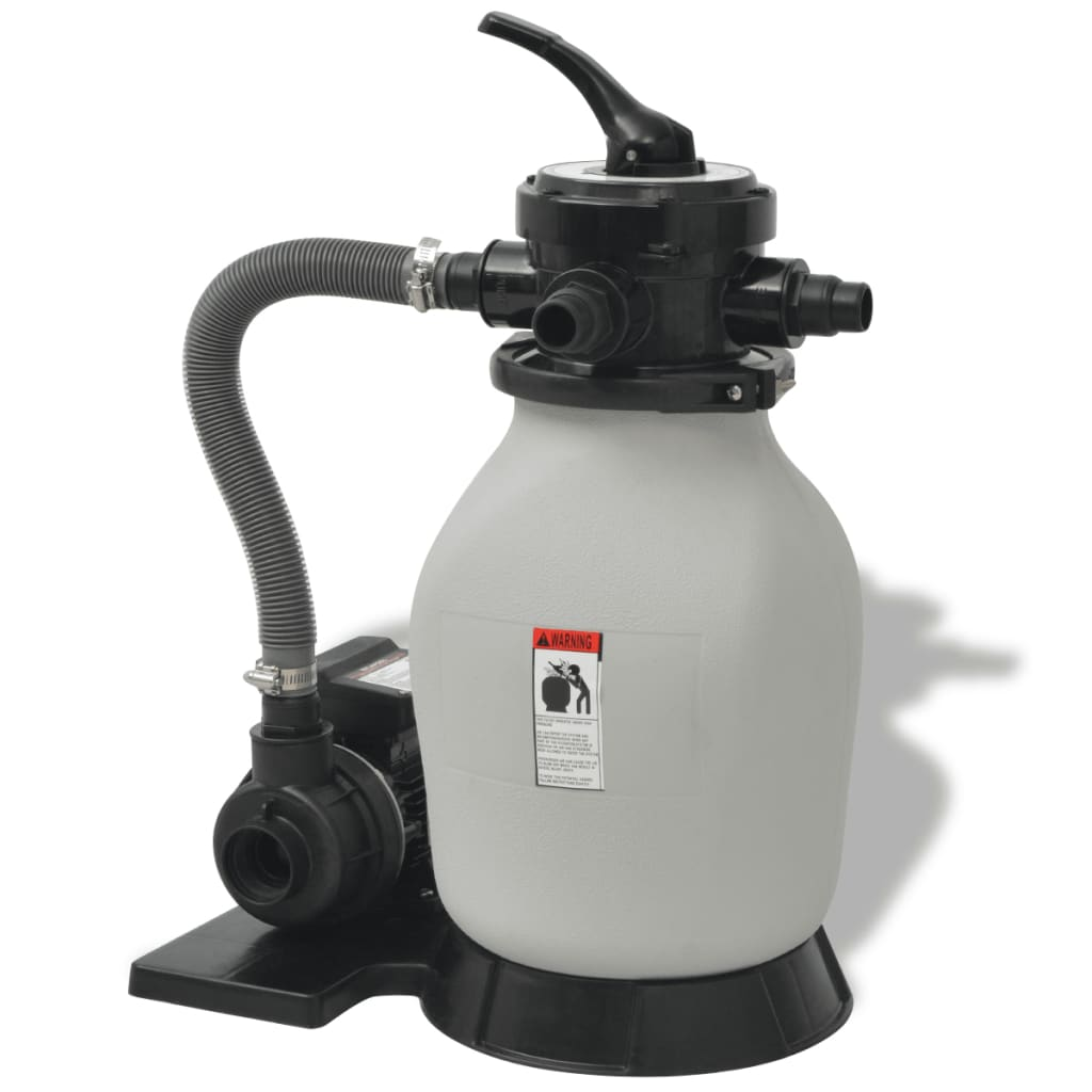 Vidaxl sand filter with pool pump hp 2694 gph - Pool filter sand wechseln ...