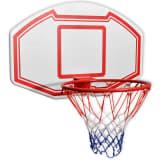 vidaXL vægmonteret basketballkurv med plade sæt med 3 dele 90x60 cm
